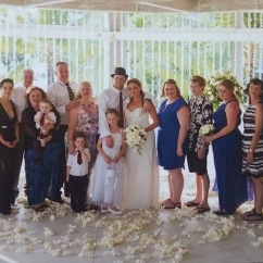 The whole family in Bali for Jonathan & Rochelle's wedding!