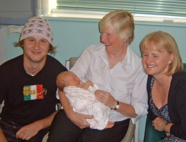 The day Taylor was born! 4 generations together :)