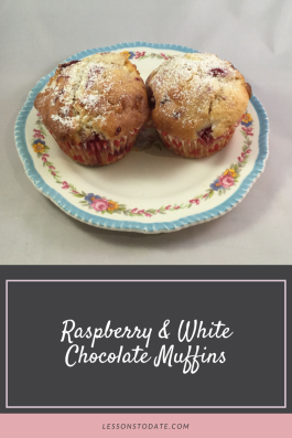 White chocolate muffins