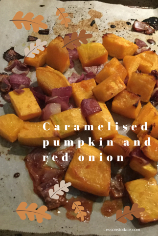 Tray of pumpkin