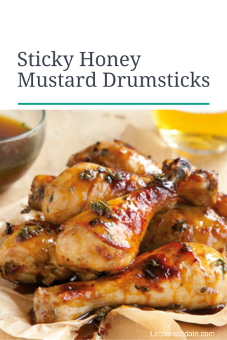 Sticky Honey Mustard Drumsticks