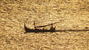 Fishermen heading out for the evening fish