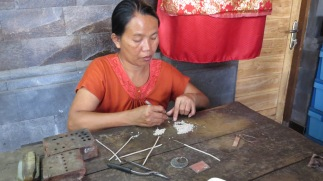 Jewellery being crafted