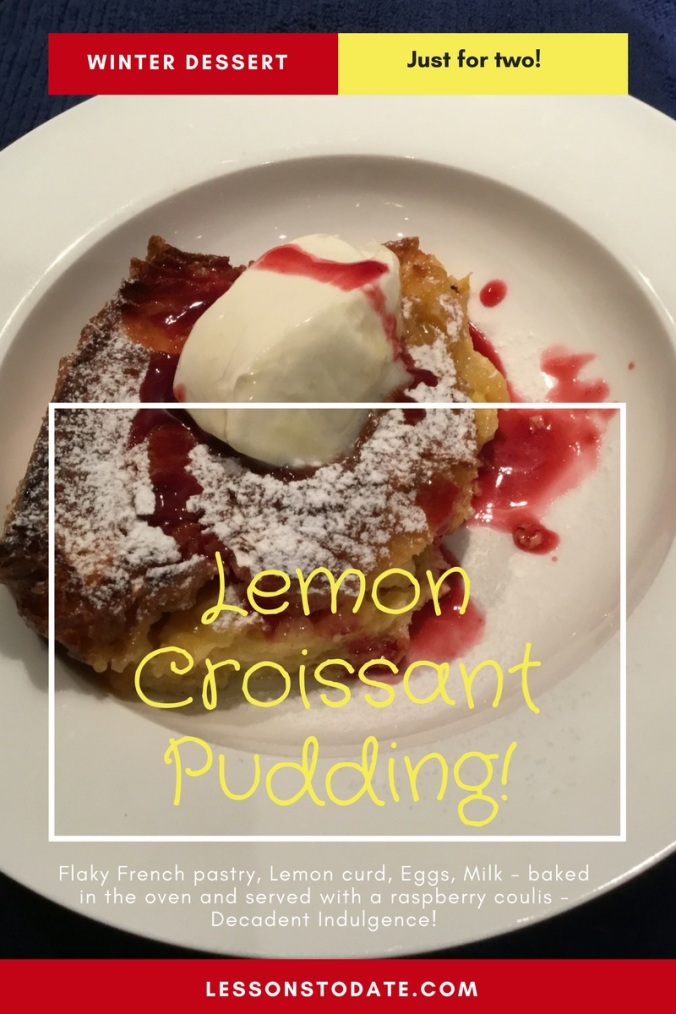 Lemon Croissant Pudding