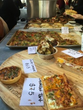 Freshly made quiche, & tarts